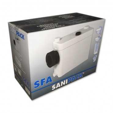 канализационный насос для переноса канализации от ванной комнаты и санузла с подвесным унитазом