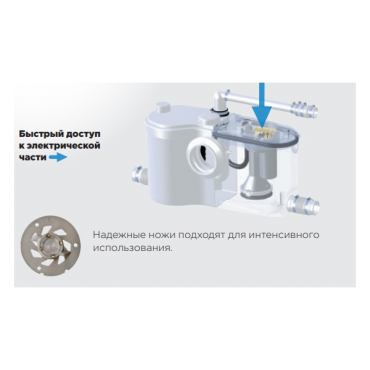 канализационная установка унитаз
