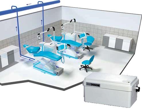 Принудительная канализация для отвода стоков от стоматологических кресел в подвальном помещении