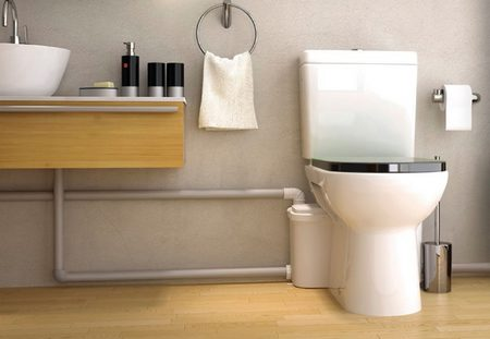 современный насос SFA SANIBOX позволяет перенести не только унитаз, но и другую сантехнику в ванной