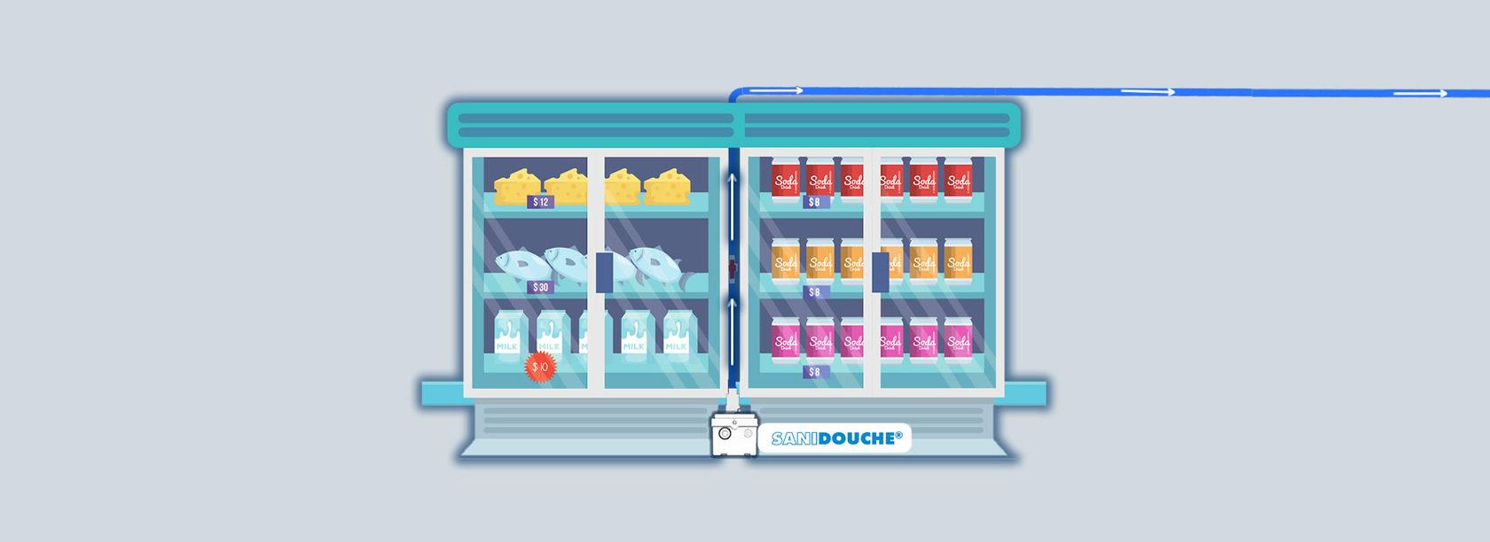 насос отвод конденсата от холодильника