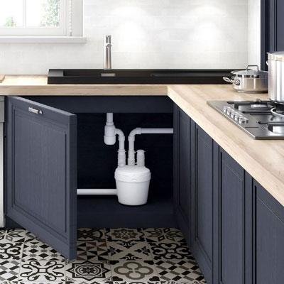 канализационный насос с измельчителем для кухни