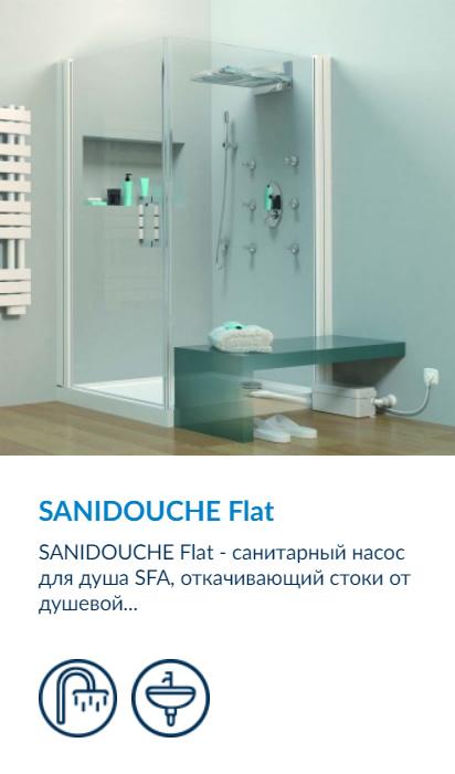 SFA Sanidouche Flat - санитарный насос душевой с низким 8 см поддоном